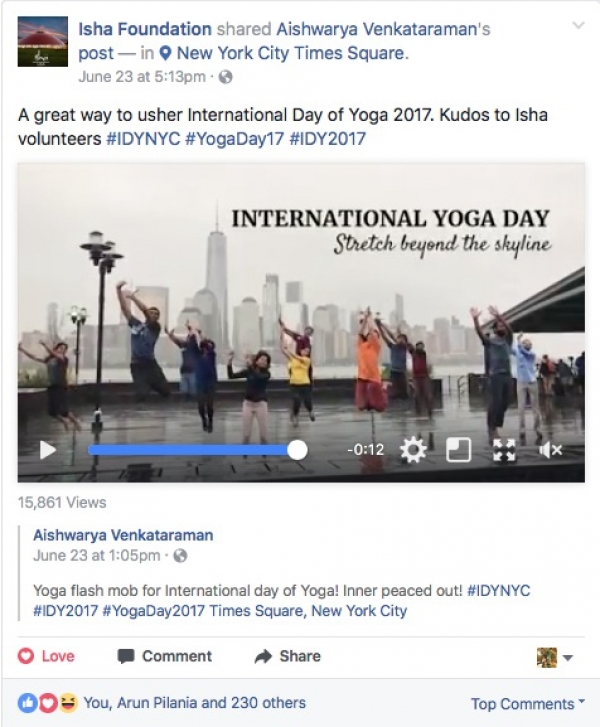 The 3rd Annual International Yoga Day!